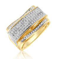 Diamond Micropave Mens Ring 0.30 Cttw in 10KT Gold