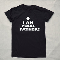 I am your Father T-shirt  Tumblr  Hipster Funny Cool Slogan Shirt Unisex Star Wars Darth Vader  New Dad Father