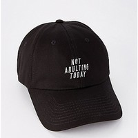 Not Adulting Today Dad Hat - Spencer's