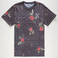 Neff Snoop Dogg Allover Floral Mens T-Shirt Black  In Sizes