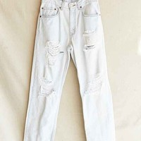 Vintage Bleached-Out Destroyed Jean- Assorted One