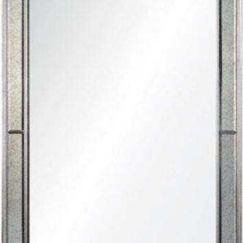 Quick Overview:Phillipe Distressed Silver Leaf Mirror