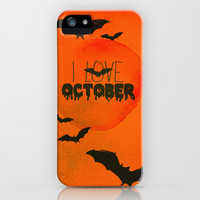 I Love October iPhone & iPod Case by Sara Eshak