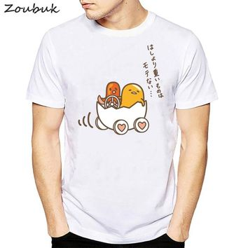 Funny Cute Gudetama Lazy Egg Yolk print t shirt men 2018 summer fashion Japanese cartoon tshirt tops tee male's casual t-shirts