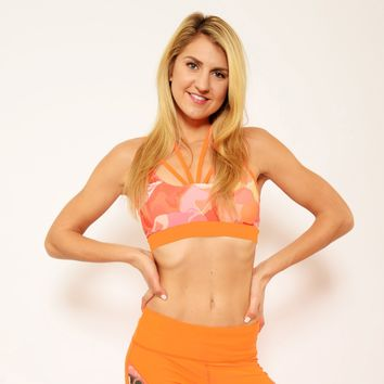 Ana Zabella Strappy Orange Workout Bra