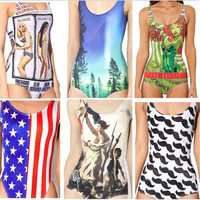 Factory Outlet!!new sexy one piece swimsuit fashion galaxy swimwear bathing suits for women 3d print swimsuit