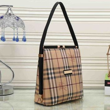 Burberry Fashion Women Trending Print Leather Satchel Tote Shoulder Bag Crossbody I