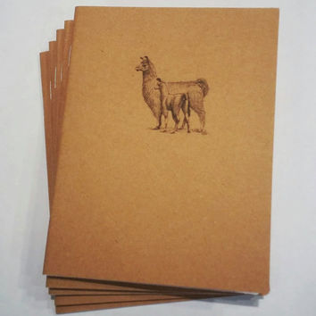 Llama Mini Notebook - diary, journal, party favors, multipack