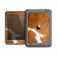 The Real Brown Cow Coat Texture Apple iPad Air LifeProof Nuud Case Skin Set