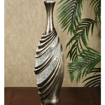 Shirred Elegance Vase