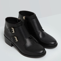 ANKLE BOOTS WITH BUCKLE DETAIL - WOMEN'S FOOTWEAR - WOMAN - PULL&BEAR United Kingdom
