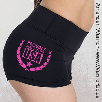 Yoga Shorts - Proudly Made in the USA - Spandex - Black