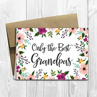 Grandpas Get Promoted to Great Grandpa - We're having a baby! - Pregnancy Announcement Card (5x7 size)