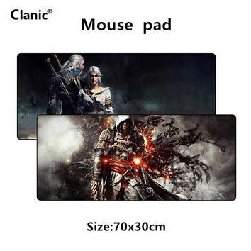 700*300 XL large gaming mouse pad for The Witcher for Assassin's Creed game Assassins Creed gamer mousepad Keyboard mat