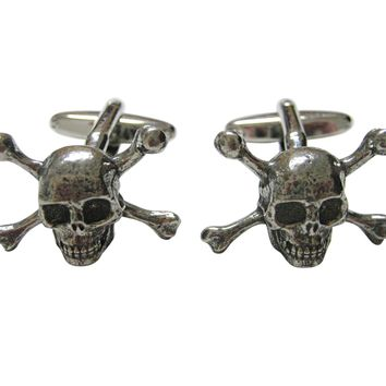 Skull Cross Bones Cufflinks