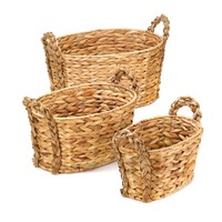 Country Style Woven Water Hyacinth Nesting Baskets