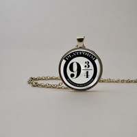 Harry Potter-Inspired Platform 9 3/4 Pendant Necklace or Keychain