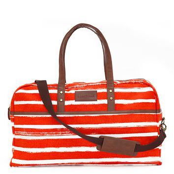 Stripes Tangerine Duffel Bag