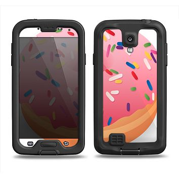 The Sprinkled 3d Donut Samsung Galaxy S4 LifeProof Fre Case Skin Set
