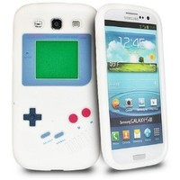 Nintendo Game Boy Soft Skin Silicone Case for Samsung Galaxy S3 i9300 - White:Amazon:Cell Phones & Accessories