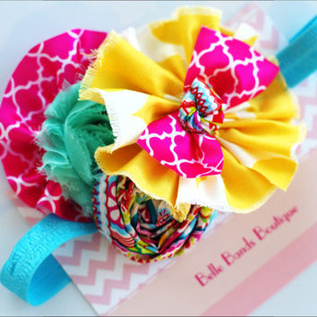Baby Girl Headbands... Baby Headband...M2M Sweet Honey Charlee Headband... Baby Bow Headband... Toddler Headband