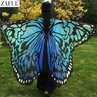 DCCKF4S ZAFUL 2017 Pareo Beach Cover Up Butterfly Wing Cape Bikini Cover Up Swimwear Women Robe De Plage Beach Bathing Suit Cover Up