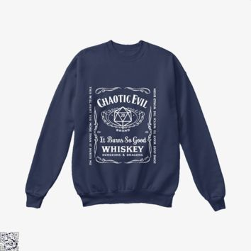 Chaotic Evil Alignment, Dragon And Dungeon Crew Neck Sweatshirt