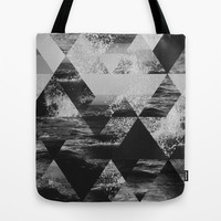 Abstract Sea Tote Bag by Cafelab