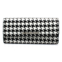 MICHAEL Michael Kors Black & White Houndstooth Jet Set Travel Flat Leather Wallet | zulily