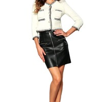 Leather Mini Skirt | MAXBERRY