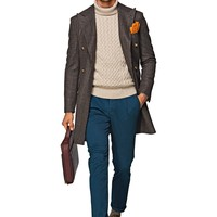 Brown Double Breasted Coat J284i | Suitsupply Online Store