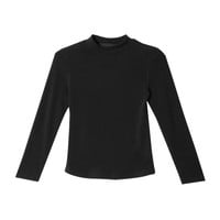 Slim Bracelet Sleeve Top (Black) | STYLENANDA