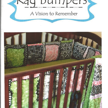Crib Baby Bumpers SEWING PATTERN, Rag Quilt Style, Mailed Hard Copy