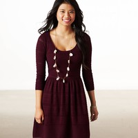 AE FIT & FLARE SWEATER DRESS
