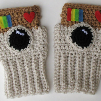 Instagram Wristwarmers, Fingerless Gloves, Ready to Ship