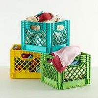 Kids Storage: Colorful Milk Crates for Kids in Toy Boxes & Storage | The Land of Nod