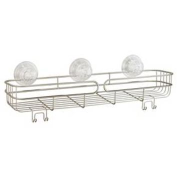 InterDesign Neo Long Suction Shelf with PowerLock Ultra Pearl Satin (BEST)