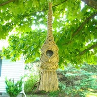 Handmade bee hive birdhouse beautiful accent to any yard