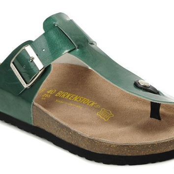 Birkenstock Medina Sandals Artificial Leather Green - Ready Stock