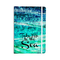 "Ebi Emporium ""Take Me to the Sea"" Aqua Glitter Everything Notebook"