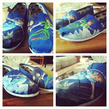 Custom Hand Painted Canvas Shoes by WalksOfArtByMichael on Etsy