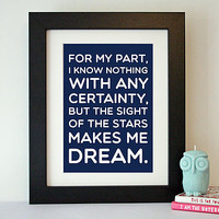 'Van Gogh' Typography Quote Print