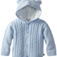 Kitestrings Baby-boys Infant Hooded Cardigan Sweater With Ears, Light Blue, 24 Months