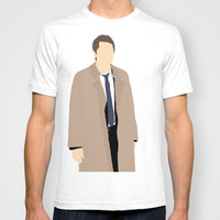 Castiel - Misha Collins - Supernatural - Minimalist design T-shirt by Hrern1313