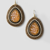 Audrey Druzy Teardrop Earrings