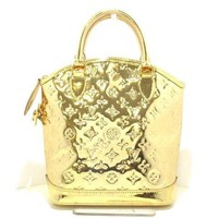 Auth LOUIS VUITTON Lockit M95450 Gold Mirror Vinyl SP2027 Handbag