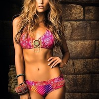 Mar De Rosas Mar de Astro | Unique Halter Top Bikini Set
