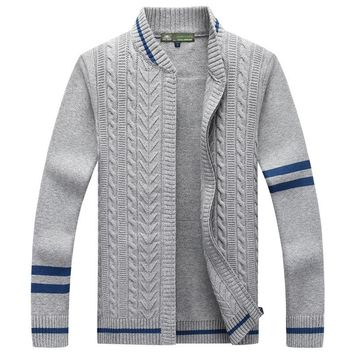 AFS JEEP Brand Mens Autumn Sweaters  Cotton Cardigan Knitting Stand Collar 89