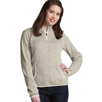 Charles River - Women's Heathered Fleece Pullover - Oatmeal