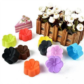 ICIK272 5cm Begonia flowers Shaped Candy Resin Molds, Silicone DIY Soap Mold, Silicone Cake Mould, Fondant Cake Decorating Tools